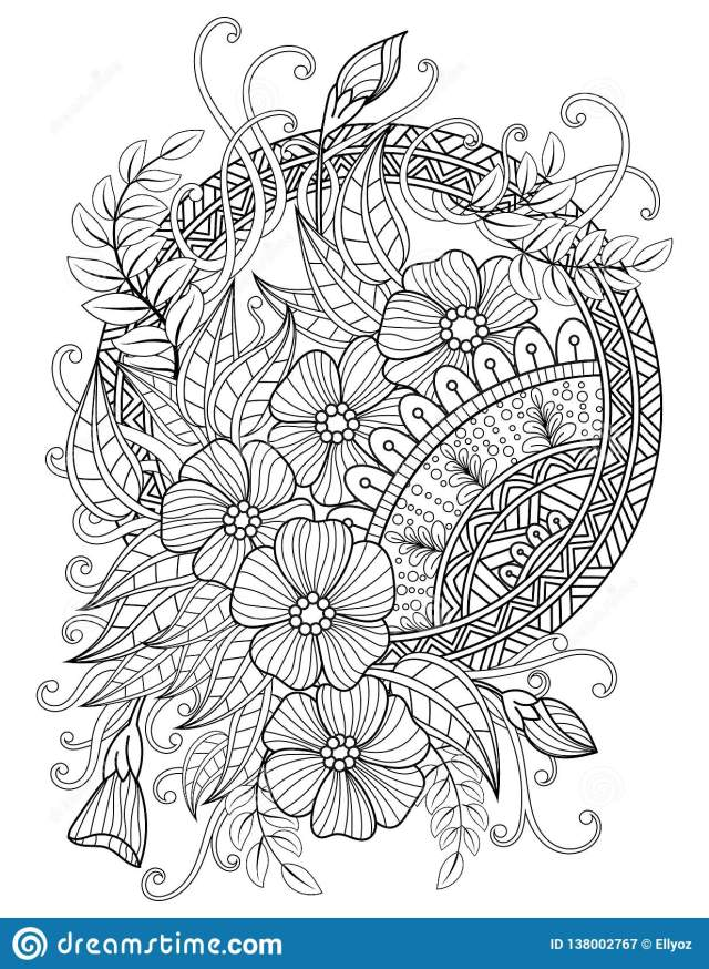 Mandala Adult Coloring Pages Stock Vector - Illustration of boho