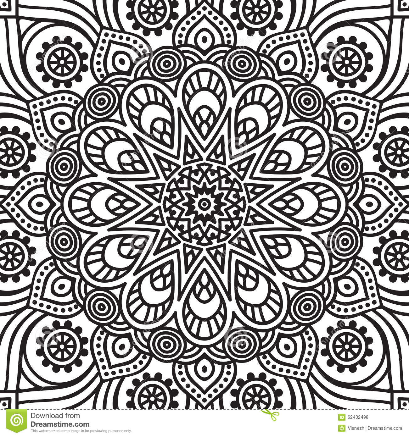Mandala Coloring Page Stock Vector Image Of Background