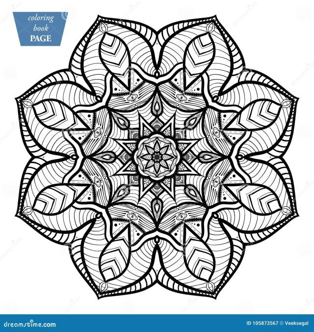 Mandala. Coloring Page. Vintage Decorative Elements. Oriental