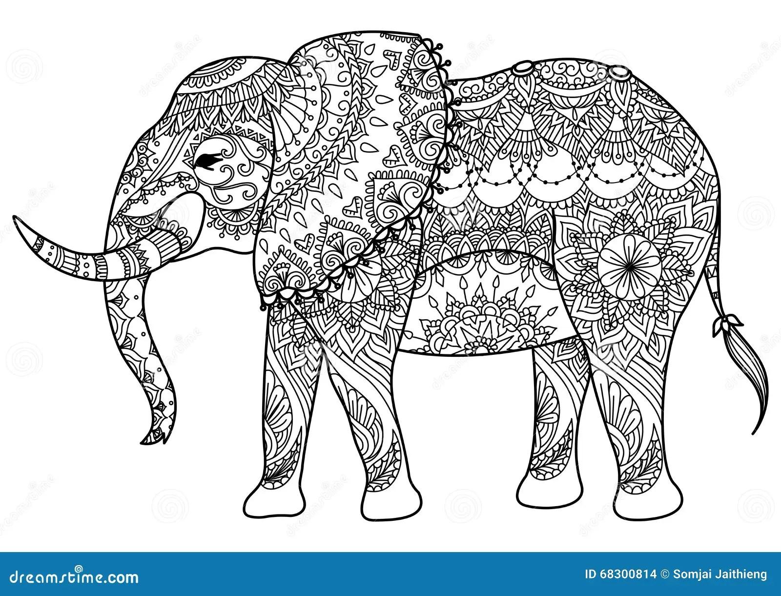 Mandala Elephant Stock Vector Illustration Of Caucasian