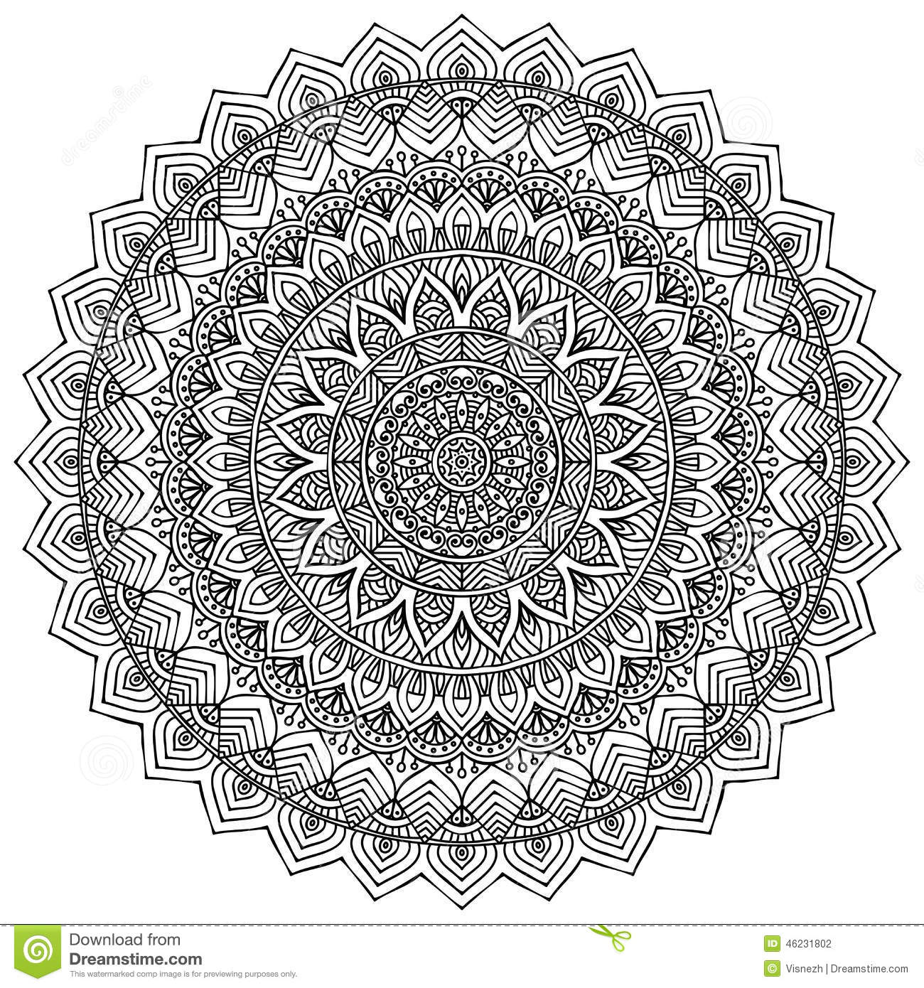 Geometric Mosaic Coloring Pages