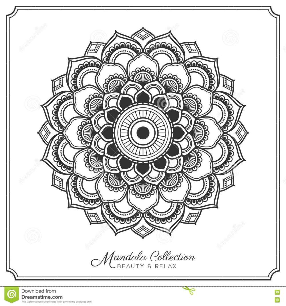 medium resolution of mandala decorative ornament design for coloring page greeting card invitation tattoo yoga and spa symbol vector illustration
