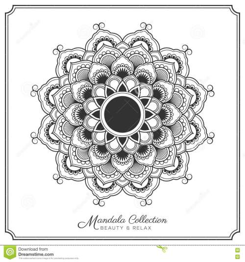small resolution of mandala decorative ornament design for coloring page greeting card invitation tattoo yoga and spa symbol vector illustration