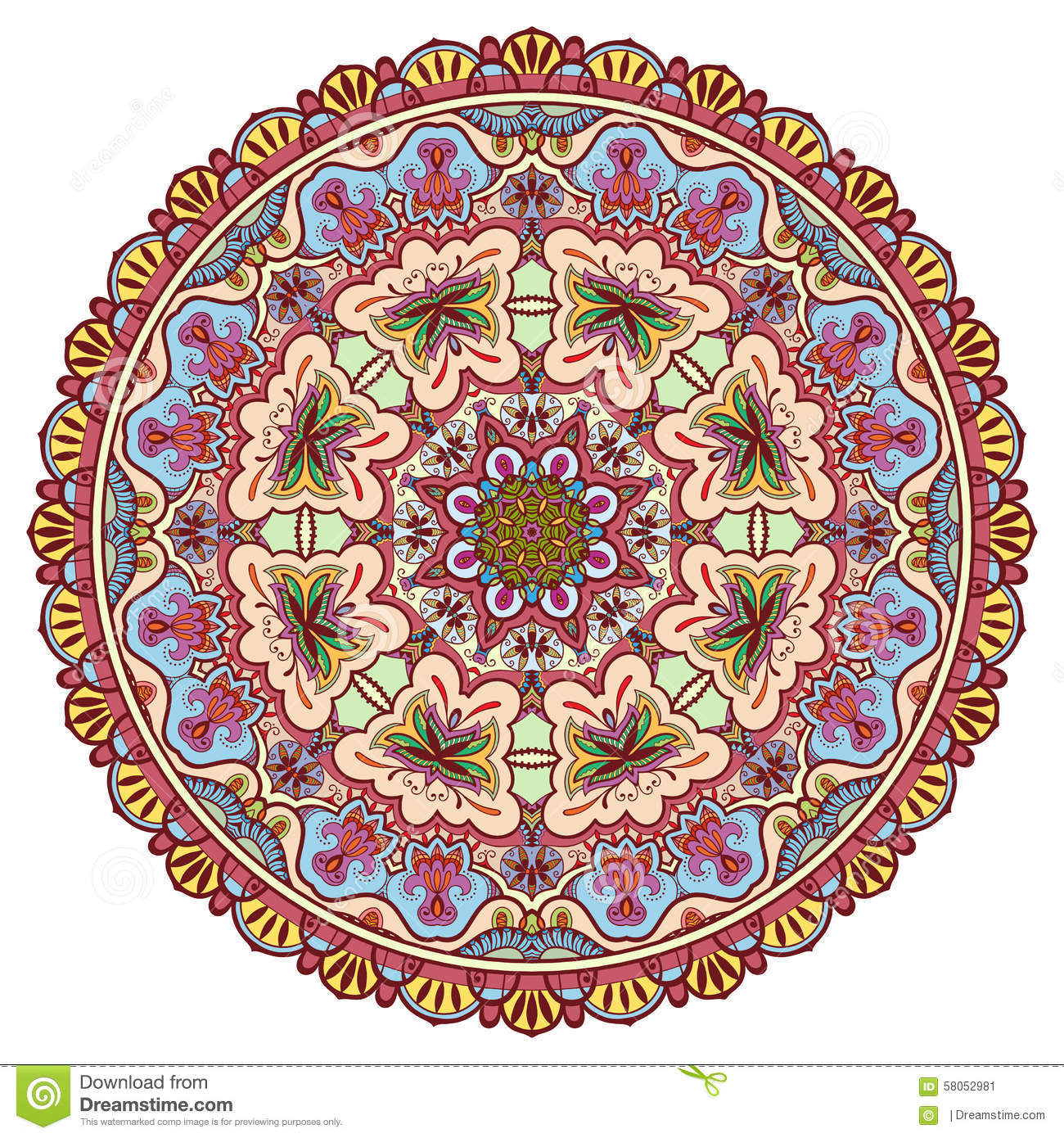Mandala Tribal Ethnic Ornament Vector Islamic Stock