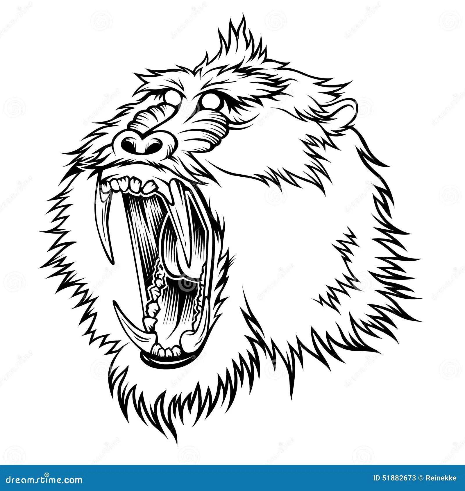 Mandrill Stock Vector Illustration Of Black Animal