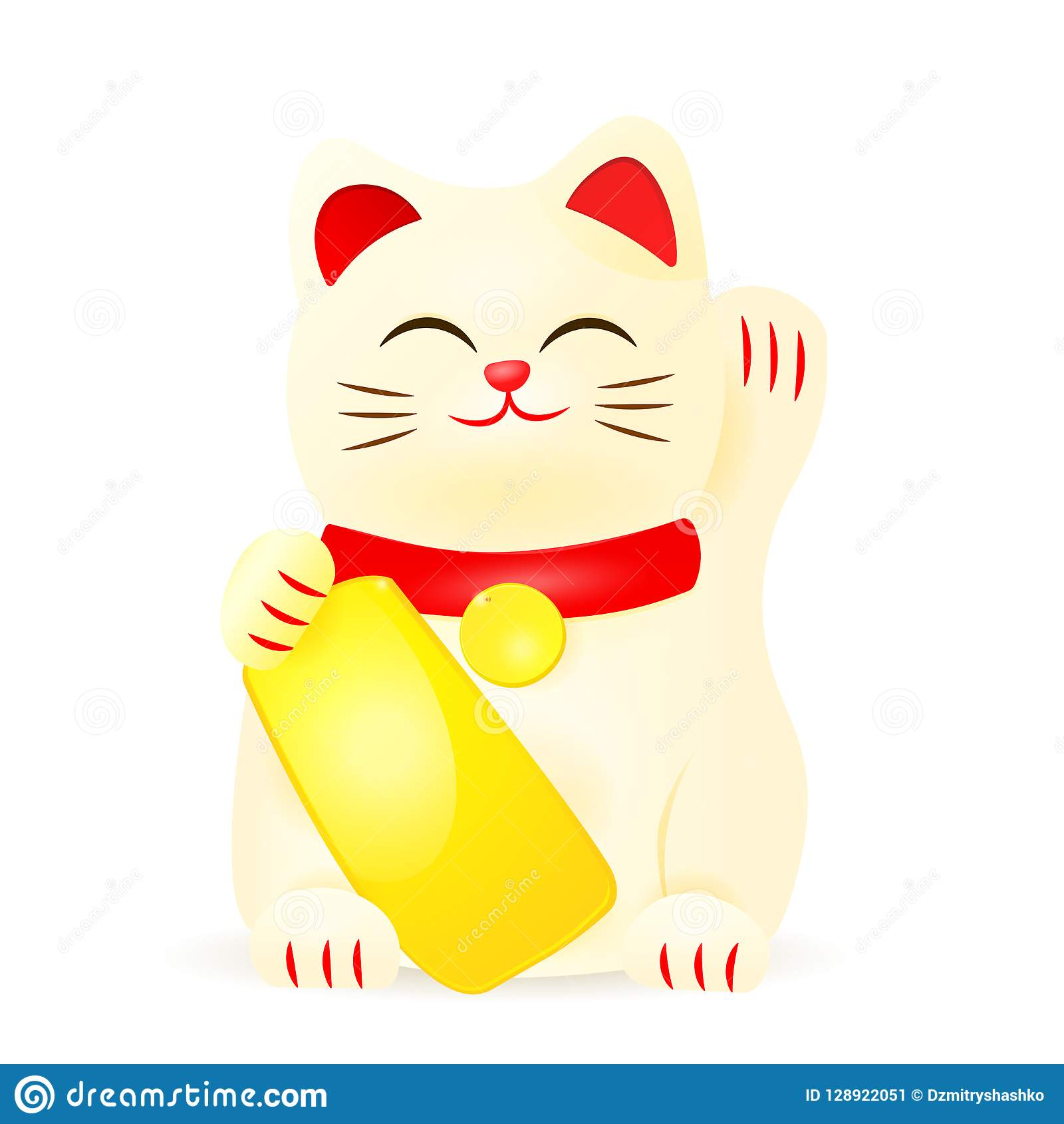 hight resolution of japan lucky cat clipart image isolated on white background