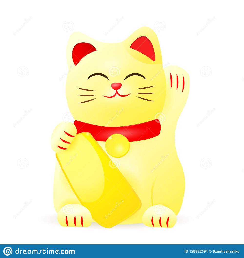 medium resolution of japan lucky cat clipart image isolated on white background