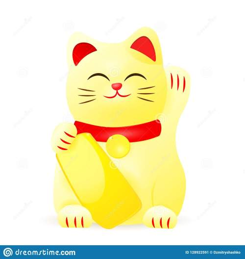 small resolution of japan lucky cat clipart image isolated on white background