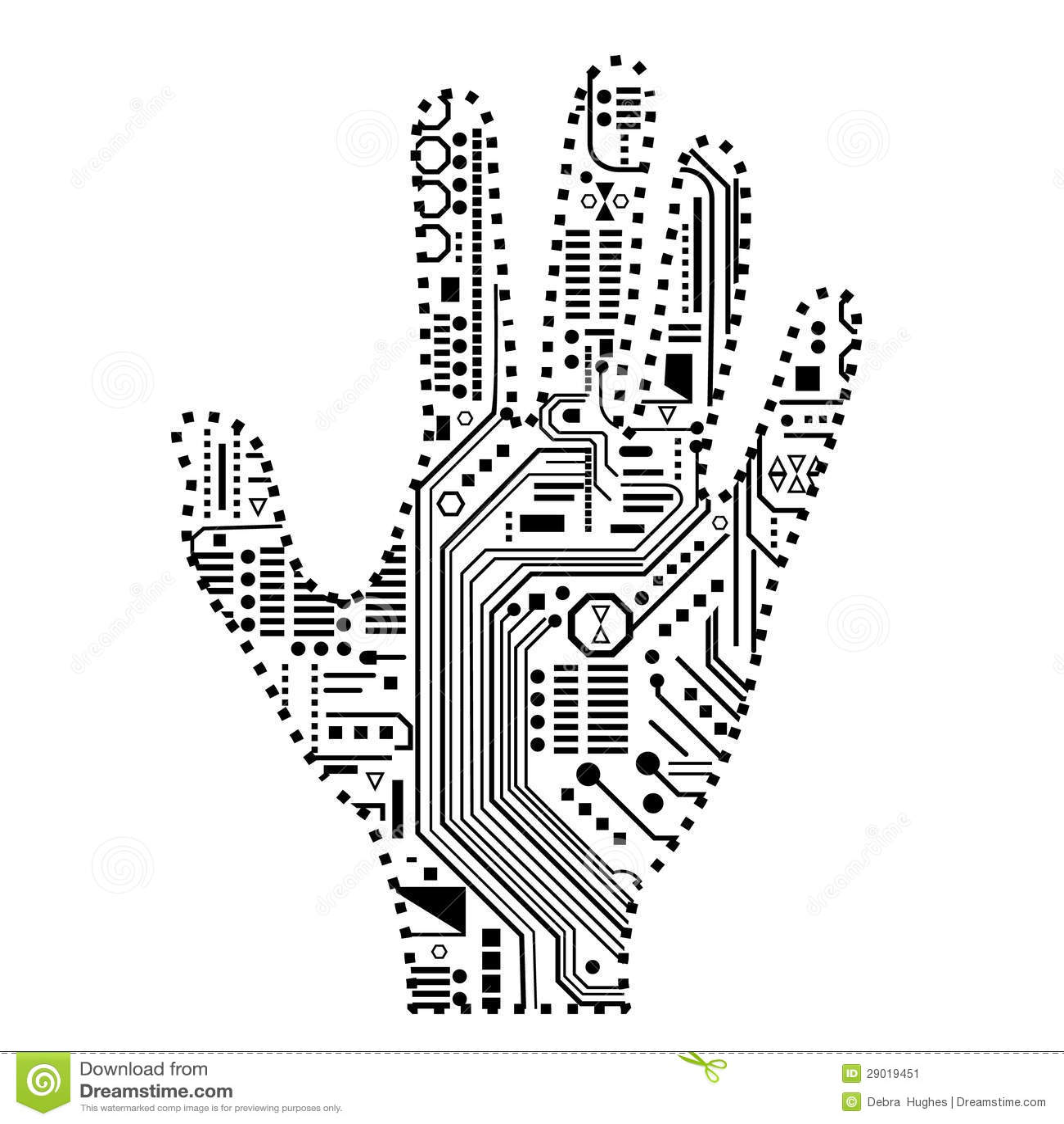 Mano Robotica Imagen De Archivo