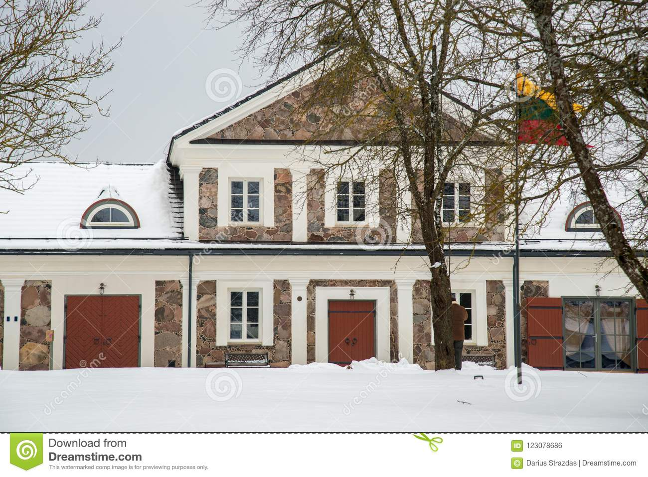 Manor House Paliesiaus Dvaras Territory In Lithuania Stock
