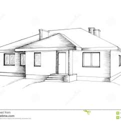 Draw Diagram For Homes Turn Signal Flasher Wiring Manual Drawing Of The House Stock Illustration