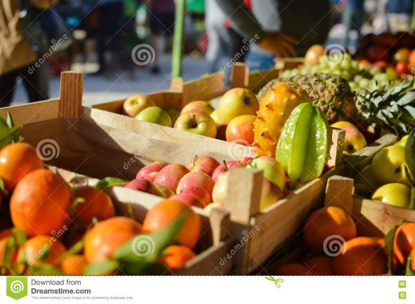 Fruits Farmers Market Background