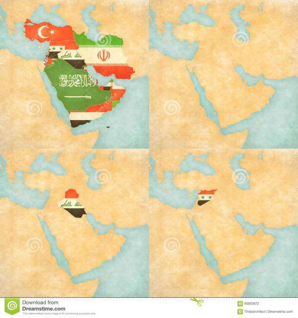 Middle East Outline Maps Printable - Year of Clean Water