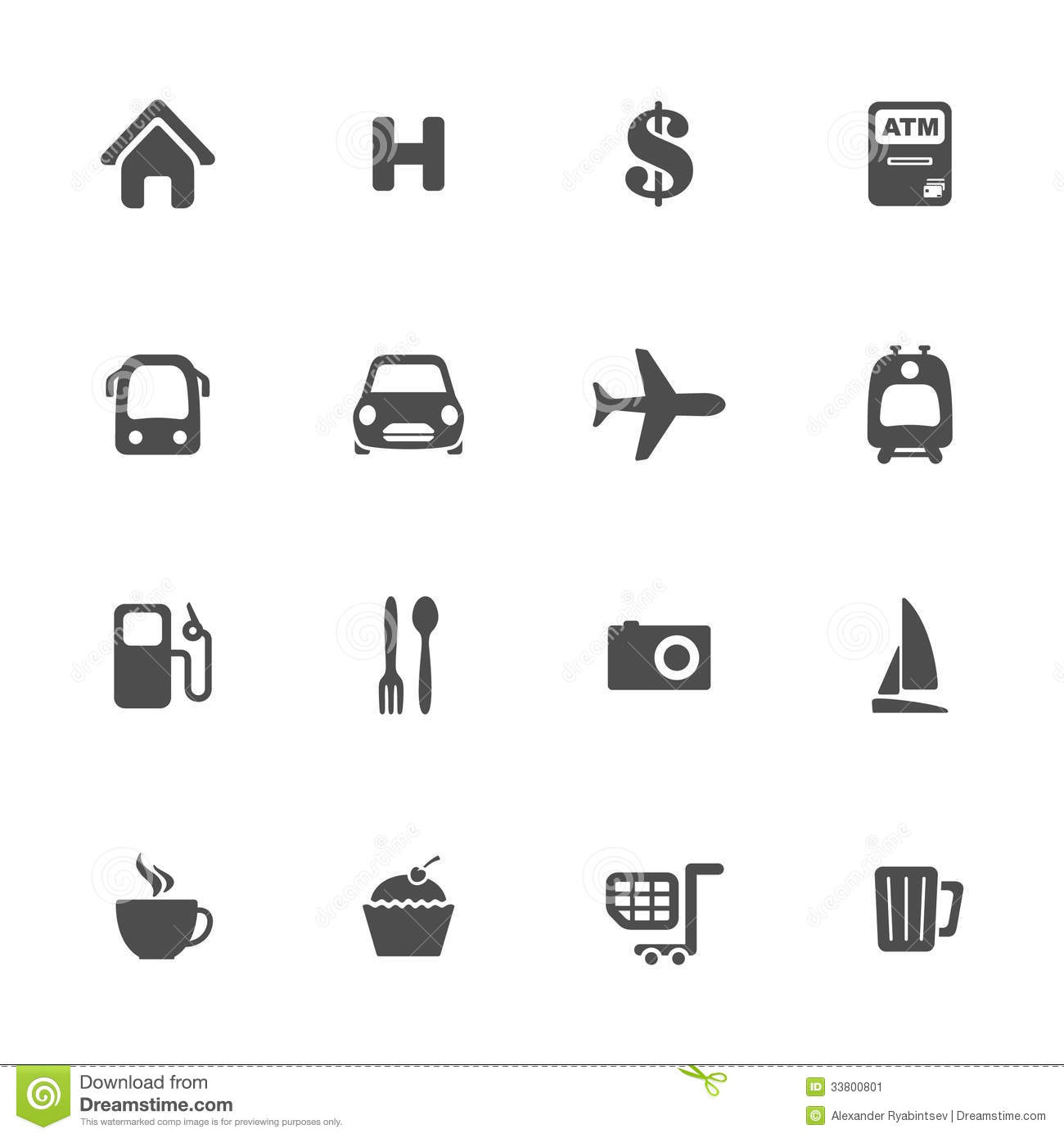 Map navigation icon set stock vector. Illustration of