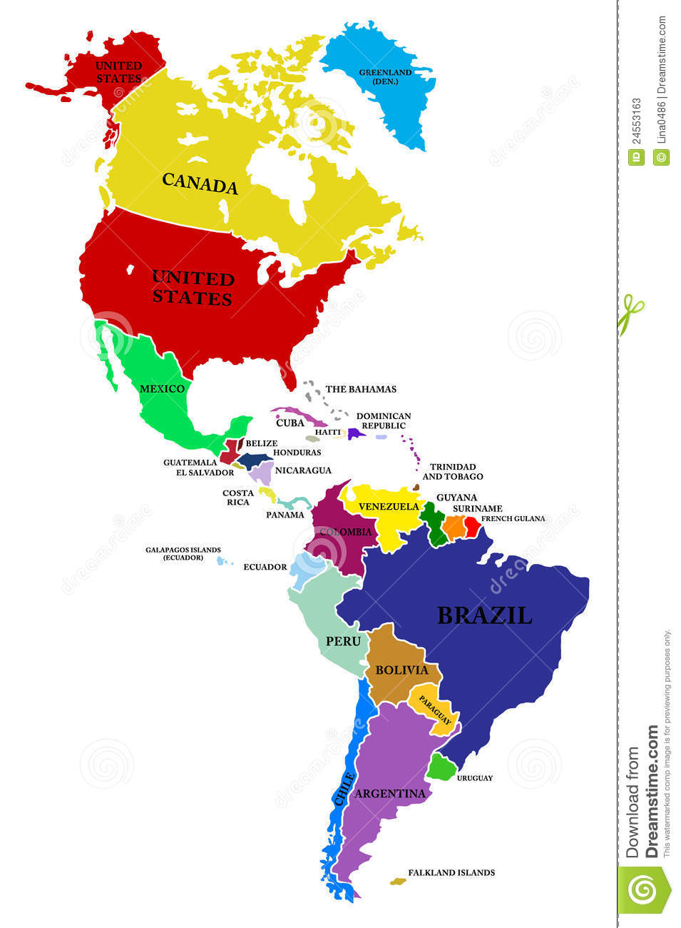 Coutries Central America