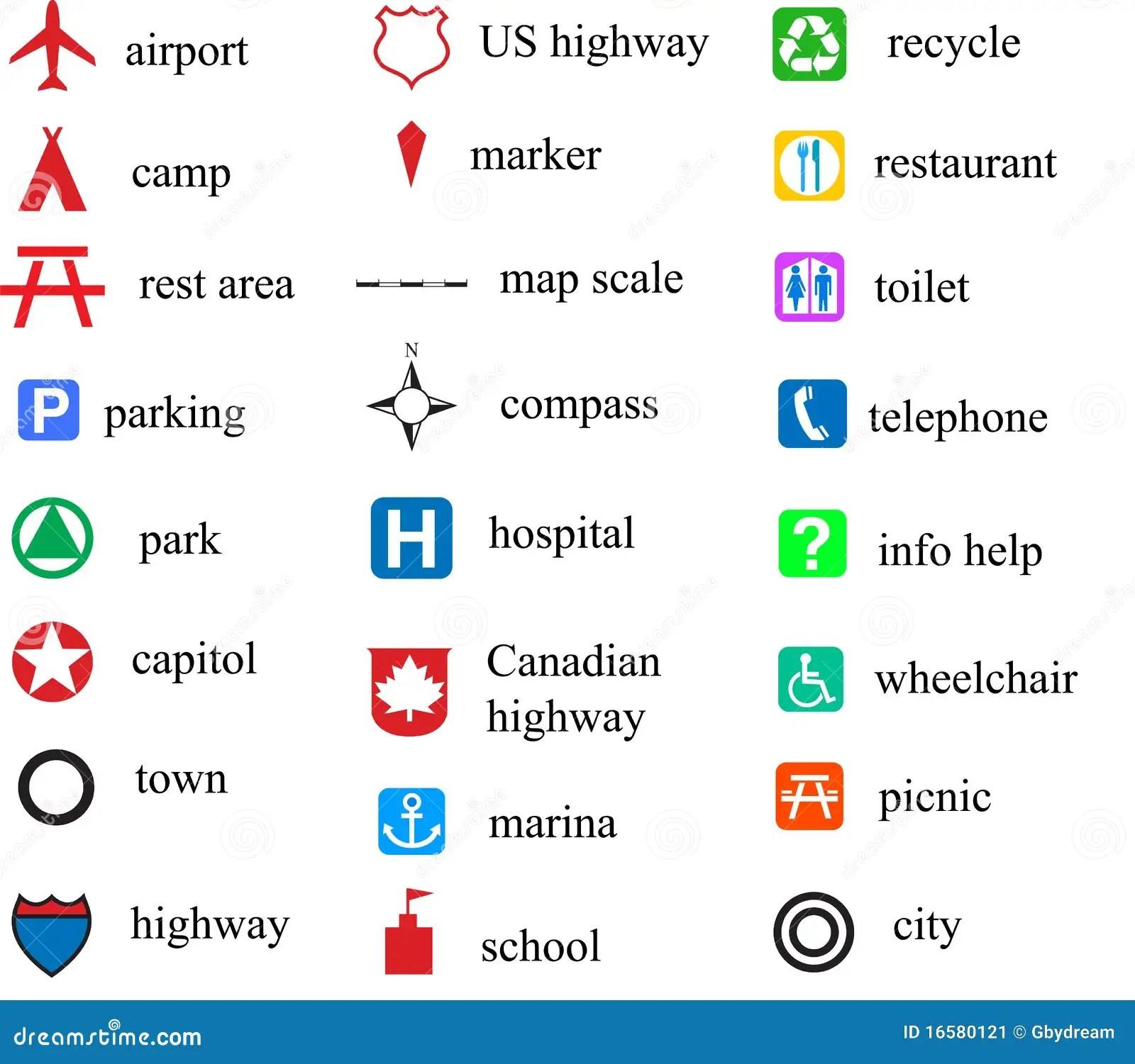 Stock Image Map Symbols Image