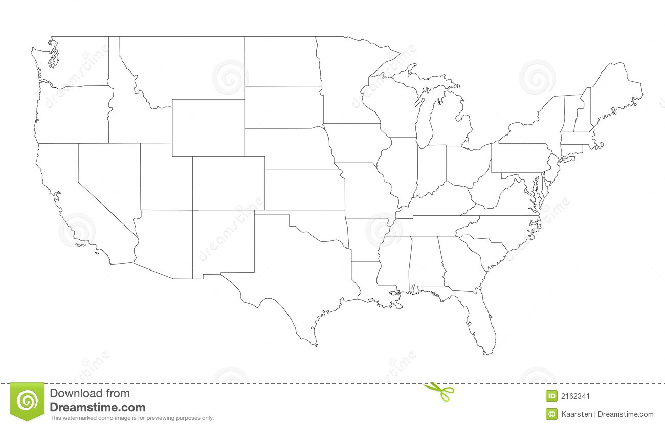 Map Of The United States Stock Image