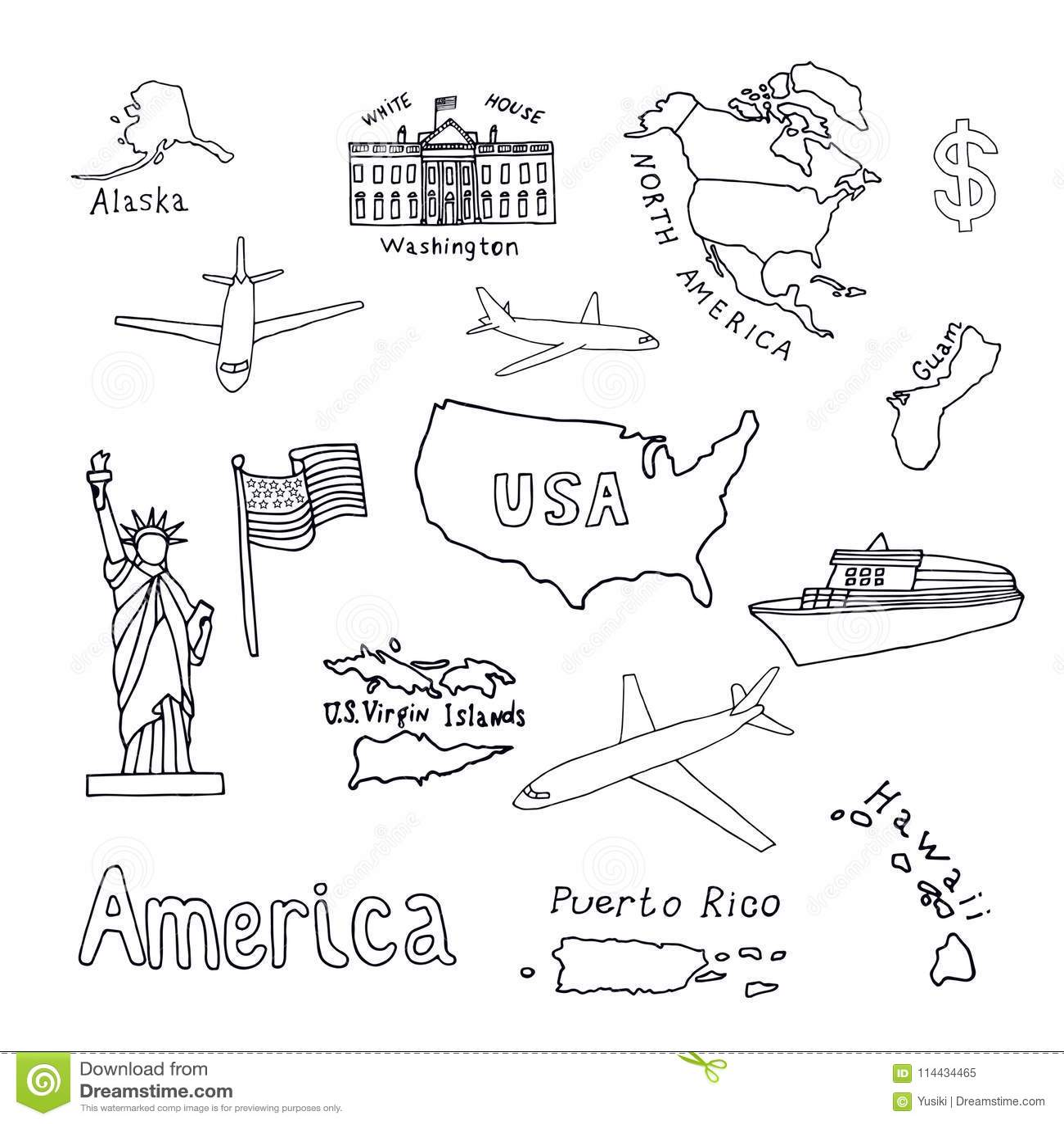 Us Flag With Dollar Symbol Cartoon Vector