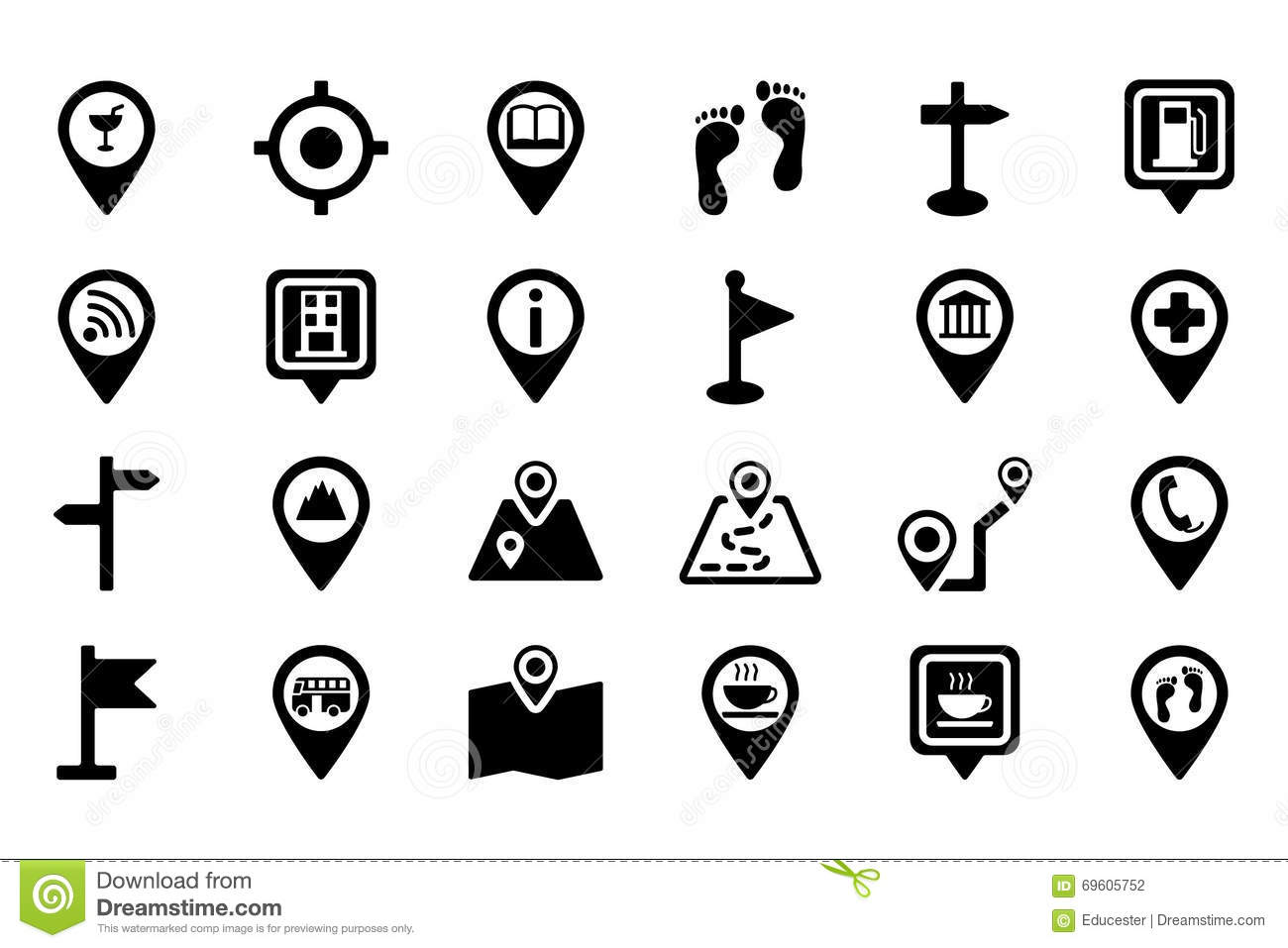 Maps And Navigation Vector Icons 2 Stock Illustration