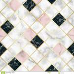 Marble Luxury Geometric Seamless Pattern Stock Vector Illustration Of Marble Black 122629461