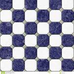 Marble Square Floor Tiles With Gray Rhombs Seamless Pattern Texture Background Navy Blue And White Color Stock Illustration Illustration Of Marble Seamless 89694791