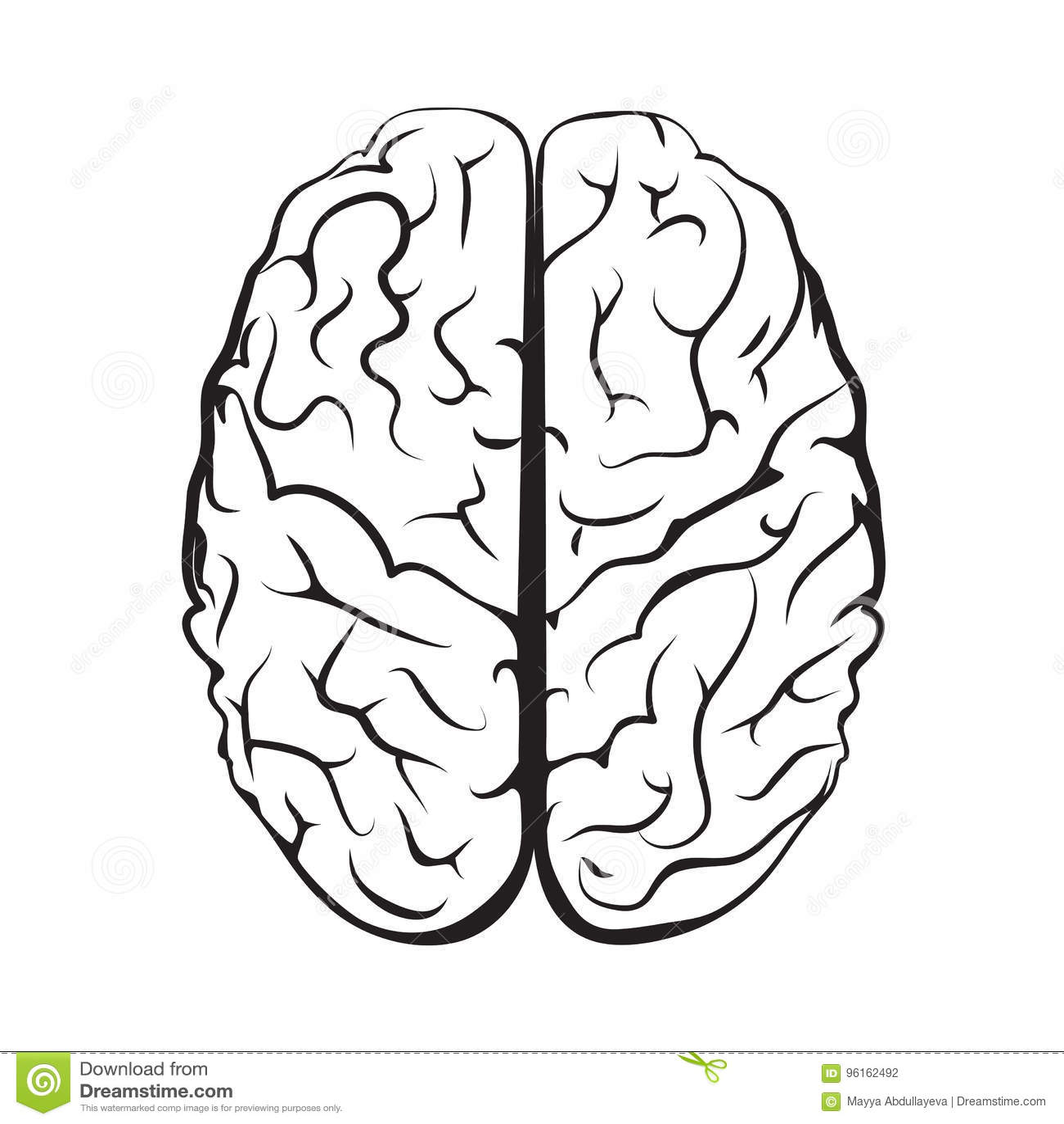 Marca Blanco Y Negro Del Cerebro Del Esquema De La Vision