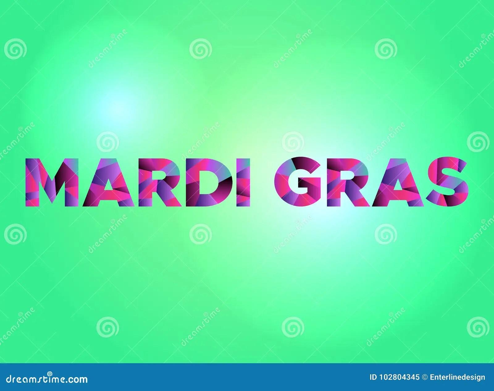 Mardi Gras Concept Colorful Word Art Illustration Stock