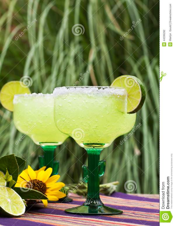 Margarita Cocktails Outdoors Stock - 44336292