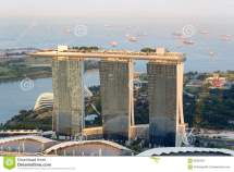 Marina Bay Sands Hotel In Singapore Stock