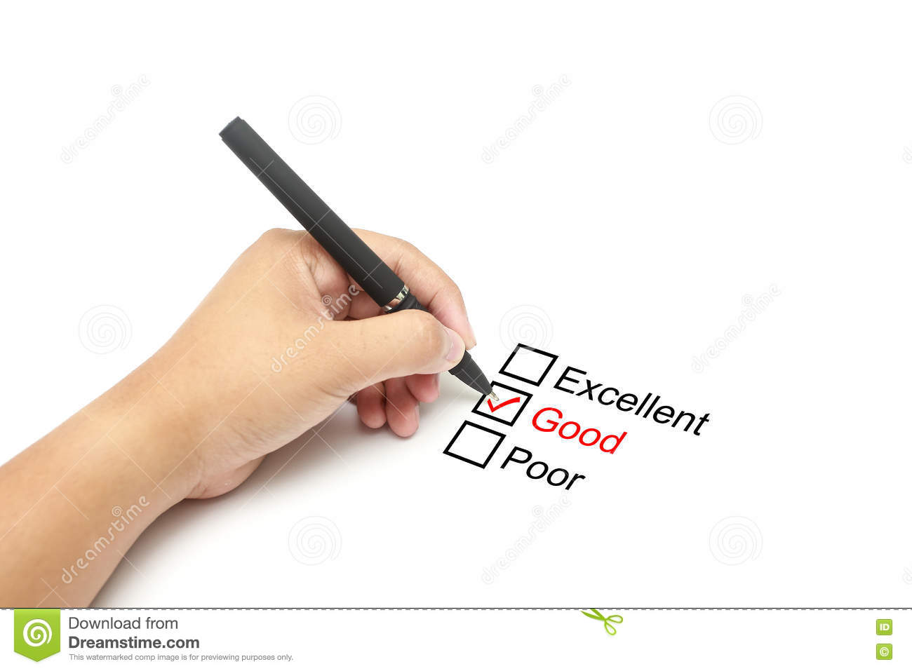 Download Mark Good On Performance Evaluation Stock Image - Image Of  Correct, Approved: 72771675