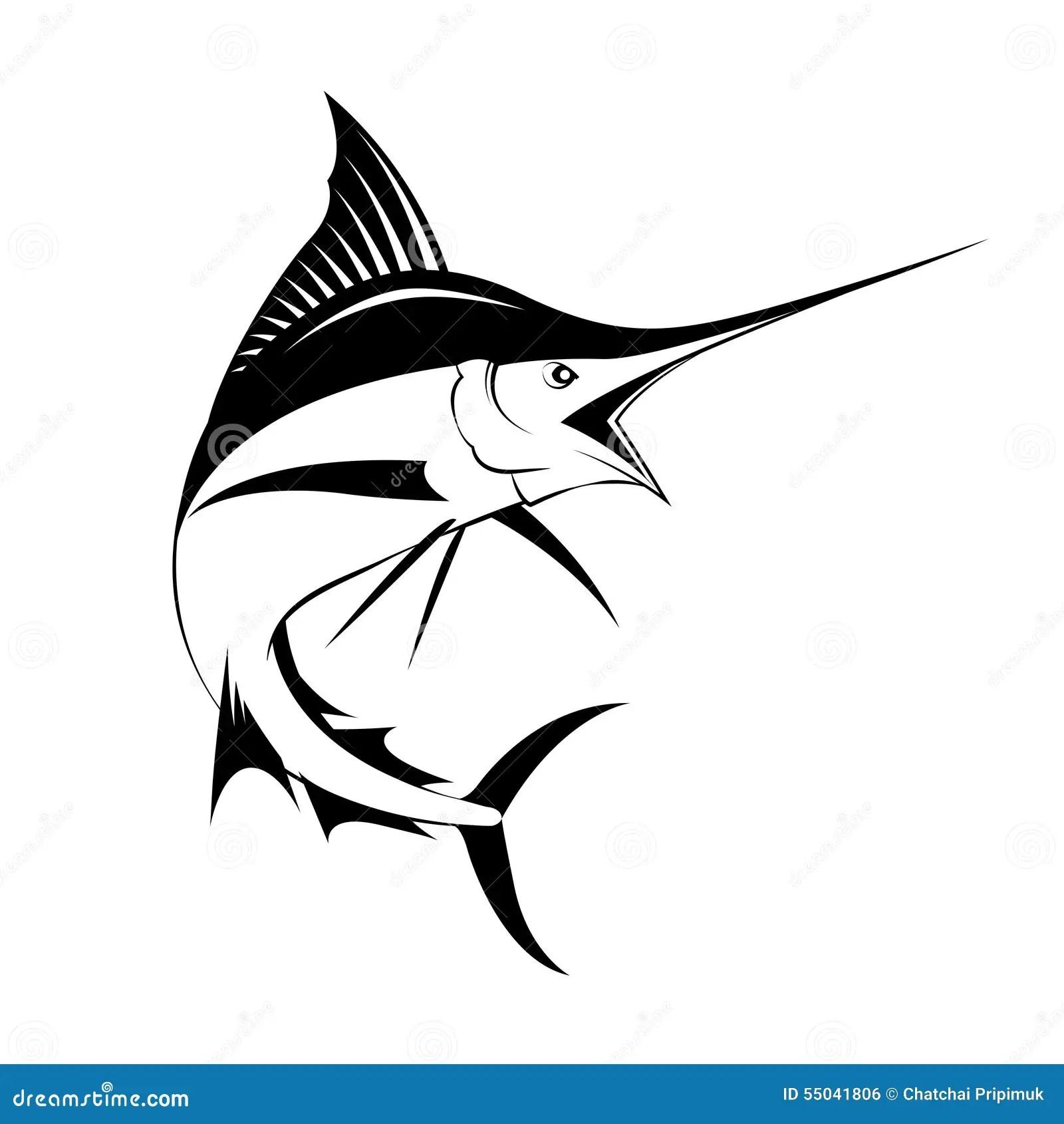Marlin Fish Vector Stock Vector Illustration Of Action