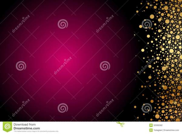 Maroon Background With Gold Decoration Stock