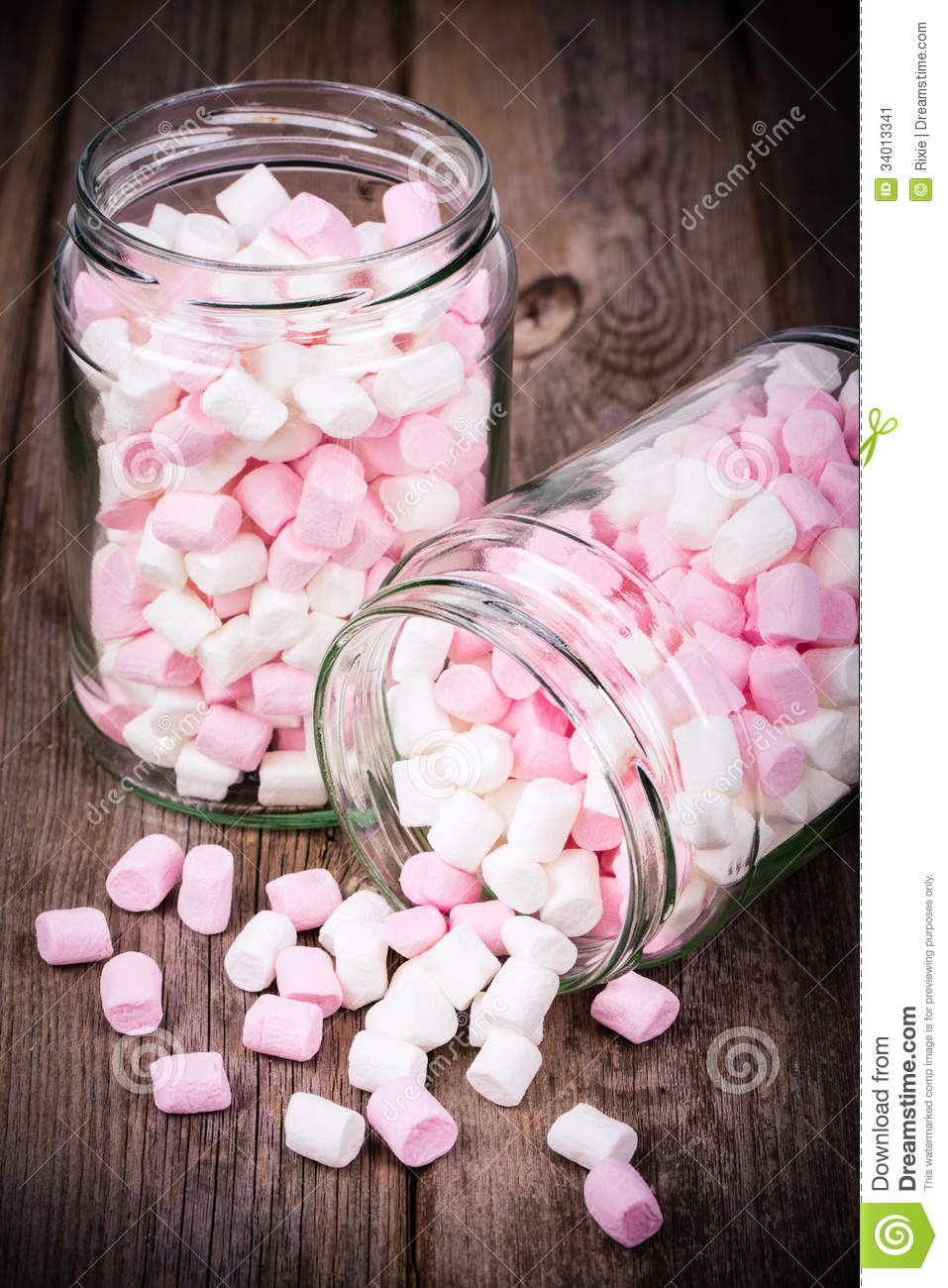 Marshmallows In A Jar Stock Image  Image 34013341
