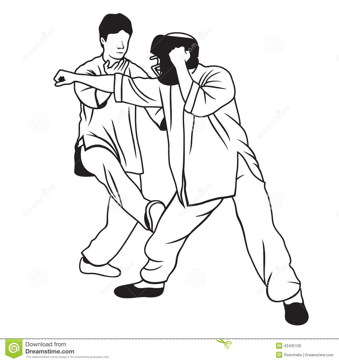 Martial Arts Illustration Stock Illustration Illustration