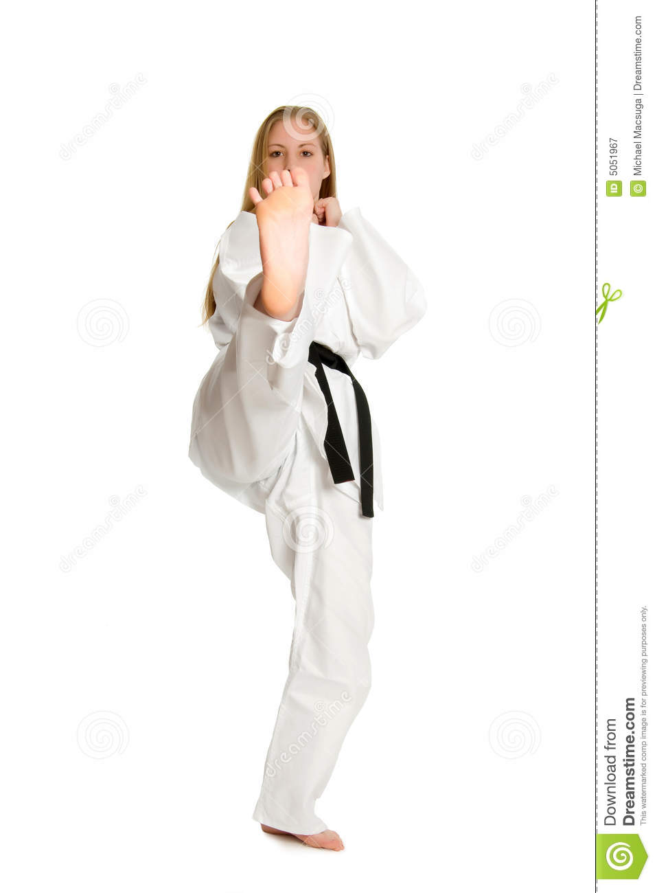 Martial Arts Woman Royalty Free Stock Photography  Image