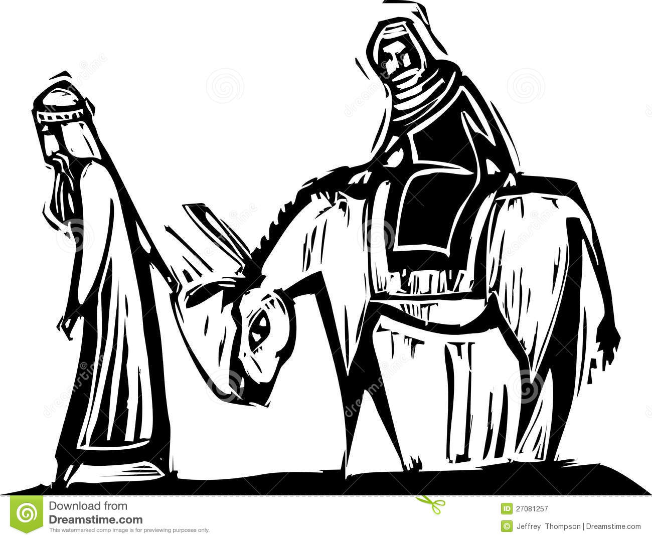 Mary And Joseph Royalty Free Stock Photography