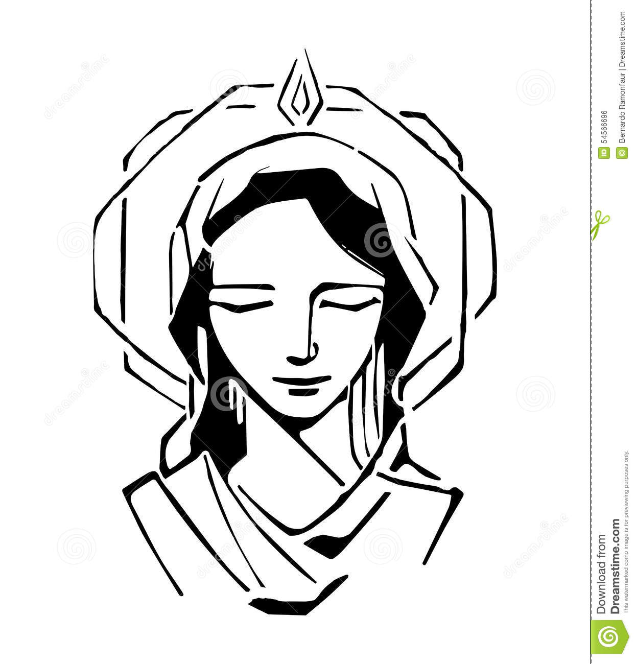 Mary At Pentecost Stock Vector Illustration Of Faith
