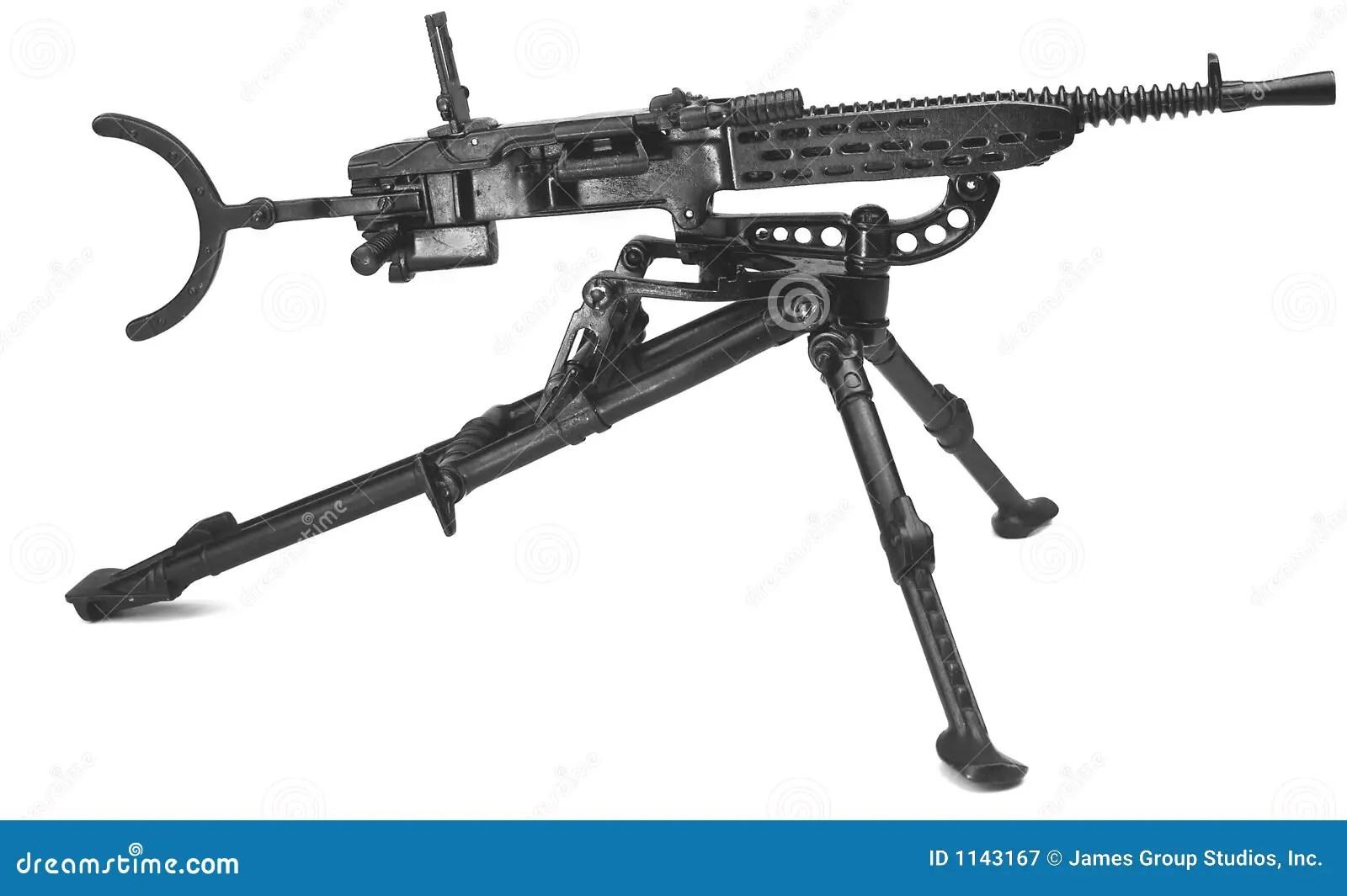 Maschinengewehr Auf Stativ Stockbild Bild Von Abbruch