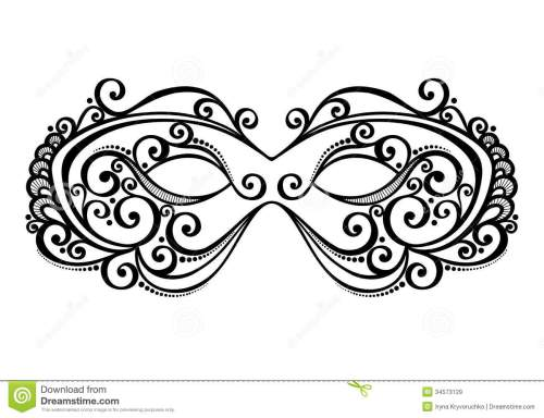 small resolution of beautiful masquerade mask vector patterned design stock illustration