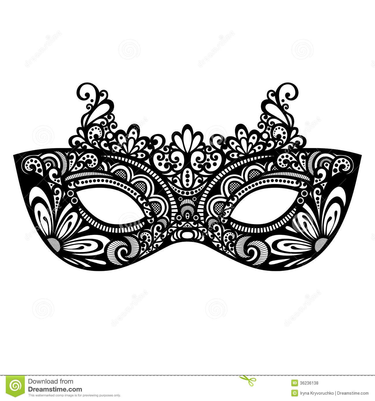 Mask Templete For Masquerade Ball