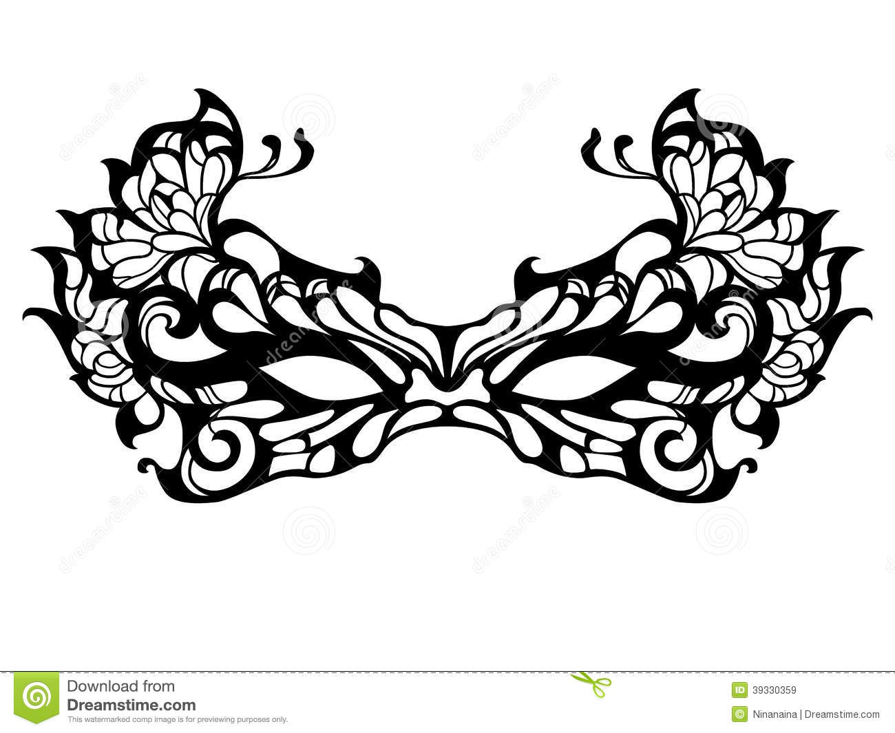 Masquerade Mask Stock Vector Illustration Of Isolated