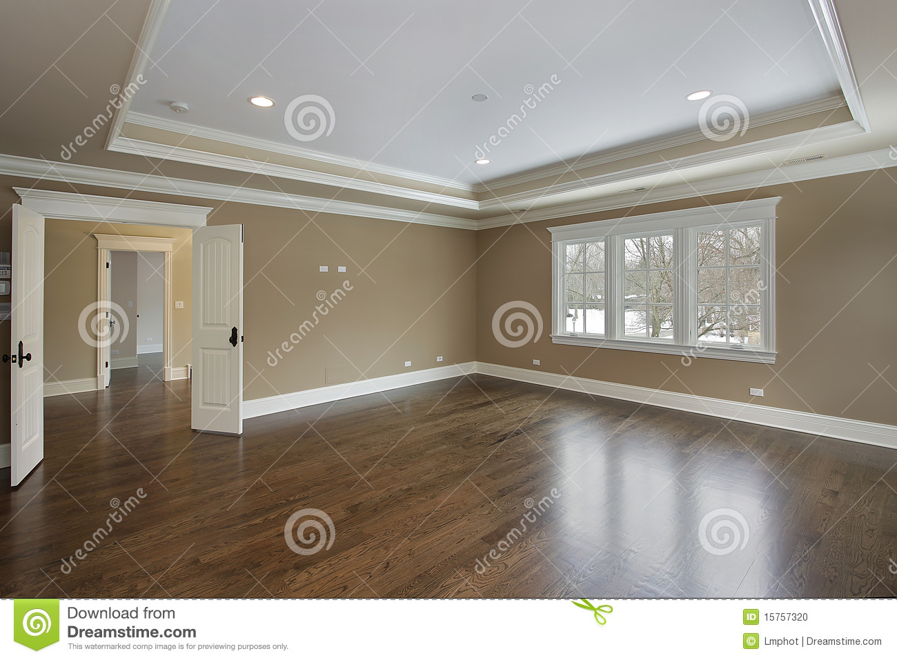 Master Bath With Tray Ceiling Stock Photo Image 15757320