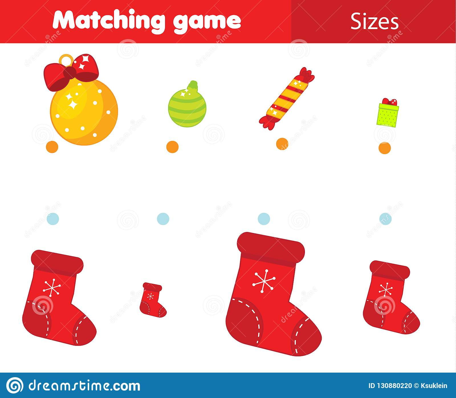Match By Size Educational Children Game Kids Activity For
