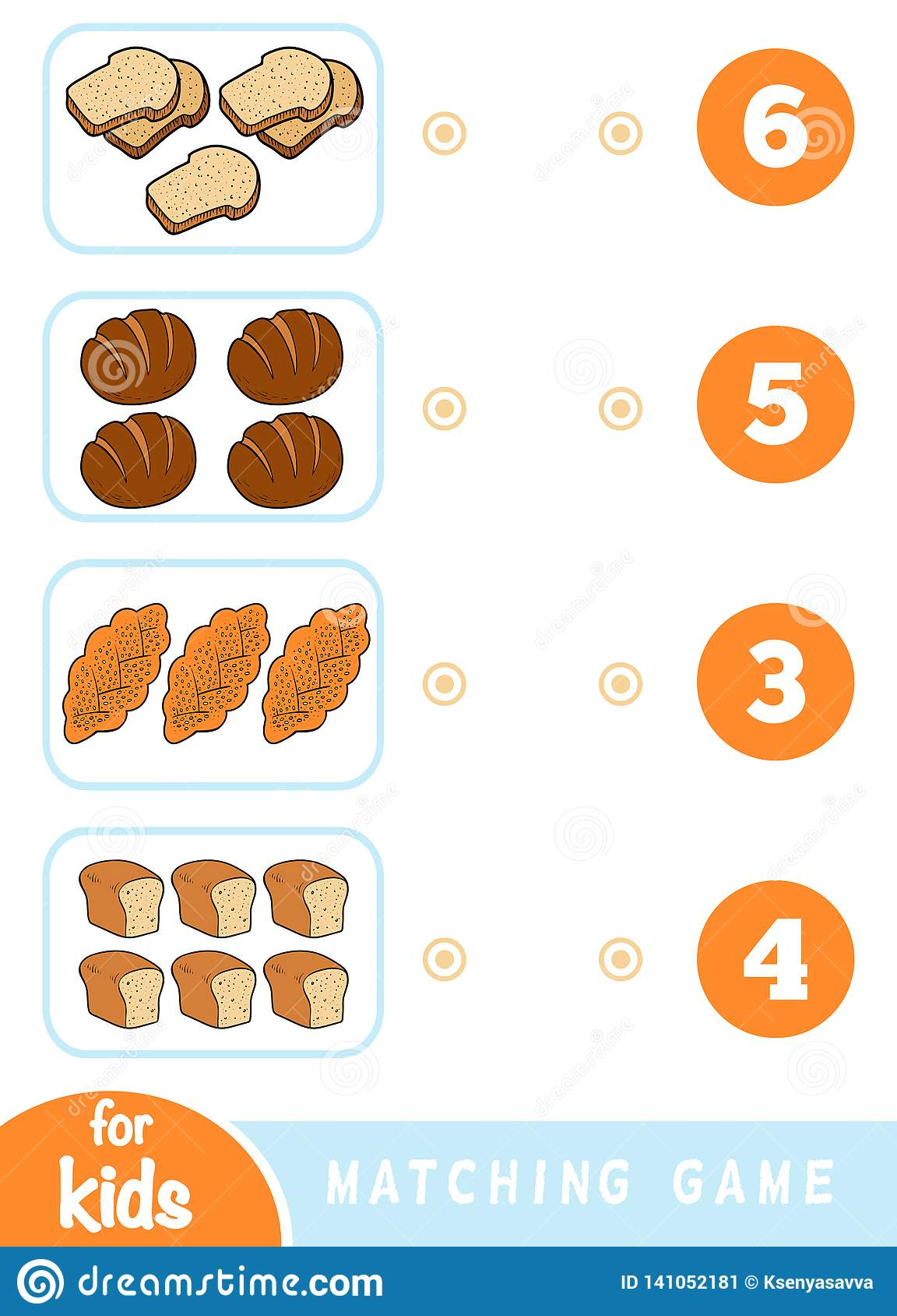 Matching Education Game Count How Many Items And Choose