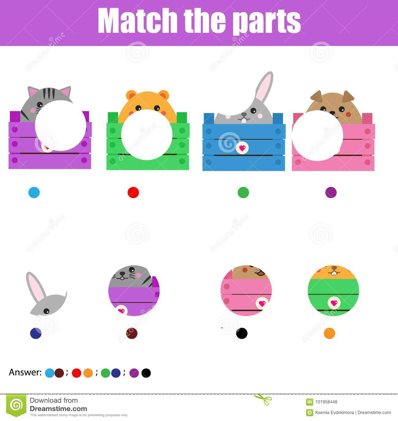 Matching Children Educational Game Kids Activity Match