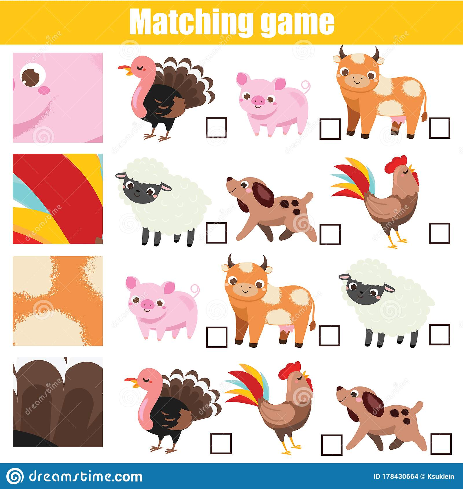 Matching Game Educational Children Activity Match