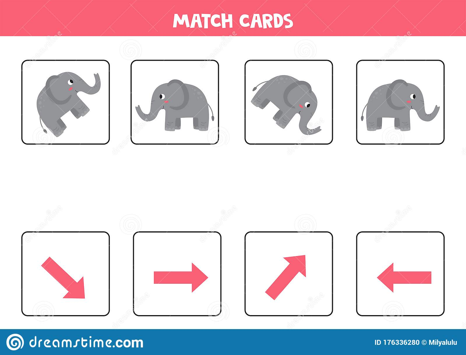 Matching Game For Kids Match Orientation And Gray