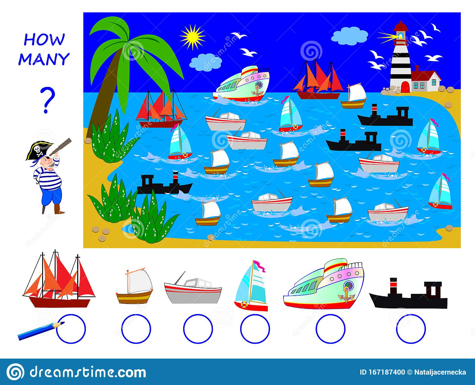 Math Education For Children Help The Pirate Count