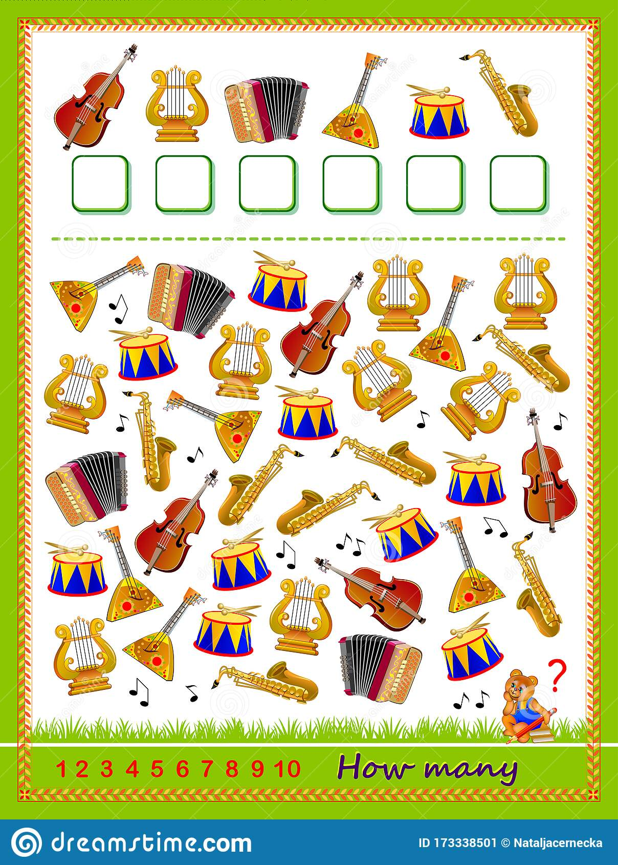Math Education For Children Logic Puzzle Game Count