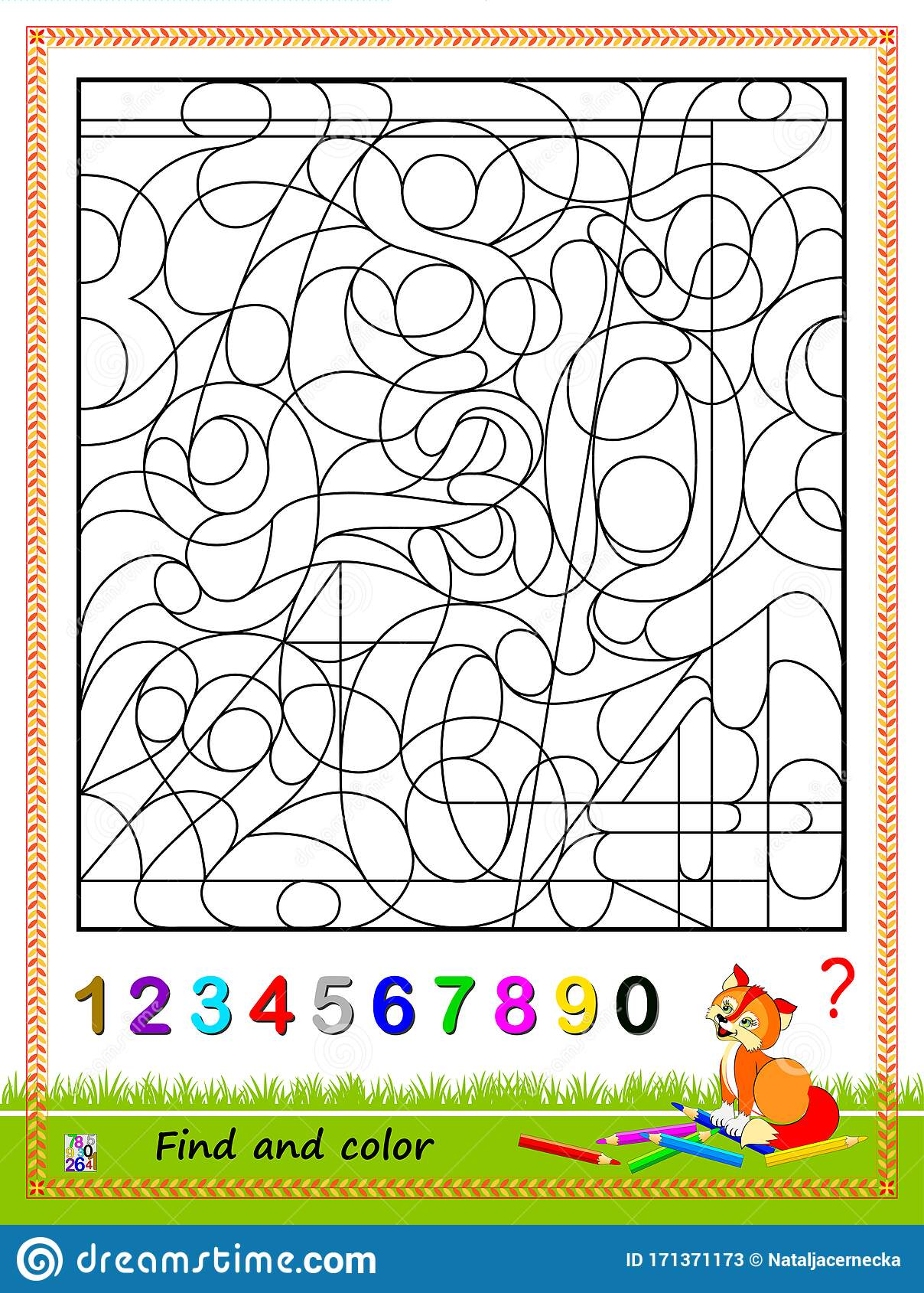 Math Education For Kids Logic Puzzle Game Find And Paint